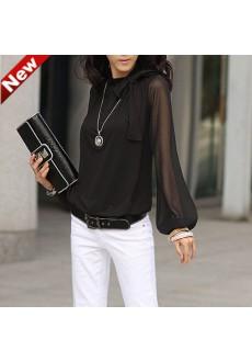 Блузка с рукавами из шифона