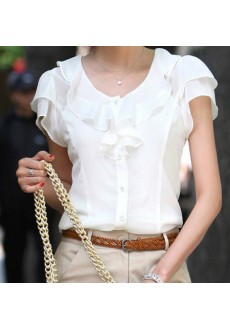 Летняя блузка без рукавов
