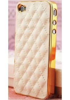 Кожаный стёганый чехол для iPhone 5/5s